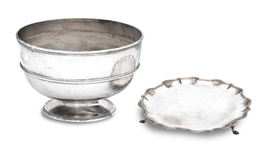 A late Victorian silver punch bowl