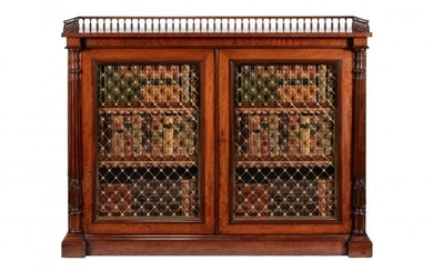 A pair of George IV mahogany side cabinets, circa 1825, in the manner of Gillows