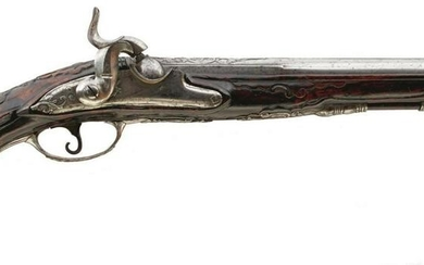 AN 18TH CENTURY CONTINENTAL PERCUSSION HOLSTER PISTOL