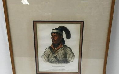 ANTIQUE LITHOGRAPH AFTER KING: APAULY TUSTENNUGGEE