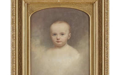 American School 19th century Portrait of a young child...