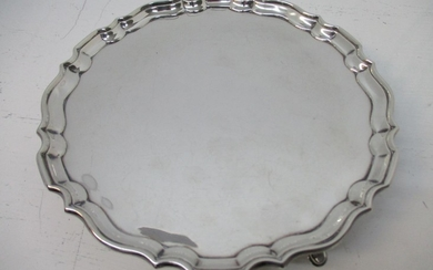 An early 20th century silver waiter by Hawksworth, Eyre & Co...