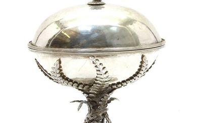 An electroplated bonbonniere in the form of an egg