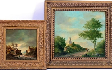 Anonymous, Mountainous landscape with castle and