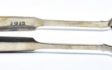 Antique English Sterling Silver Serving Tongs
