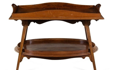 Belgian Early 20th Century Art Nouveau Tray Table