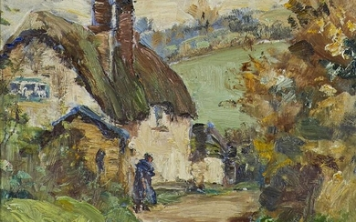 Berthe Des Clayes, British/Canadian 1890-1968- Country Lane;...