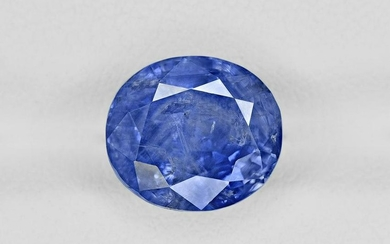 Blue Sapphire, 5.82ct, Mined in Kashmir, Certified by