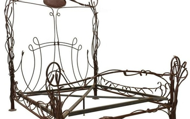 CUSTOM MADE NATURALISTIC IRON KING-SIZE BED
