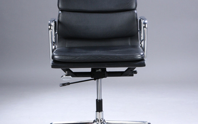 Charles Eames. Soft Pad Office Chair, Model EA-217 black leather