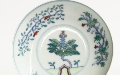 Chinese Doucai Glazed Dish
