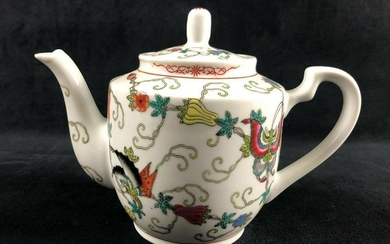 Chinese Jingdezhen Porcelain Hand Painted Teapot