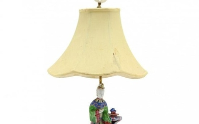 Chinese Porcelain Figural Table Lamp