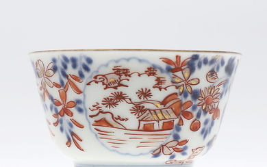 Chinese bowl in Imari porcelain, probably 18th Century.
