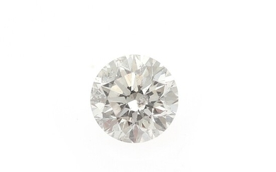 NOT SOLD. An unmounted brilliant-cut diamond weighing 0.80 ct. Colour: Wesselton (H). Clarity: SI2. –...