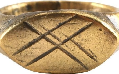 EARLY CHRISTIAN GIRL'S RING 5th-8th CENTURY AD