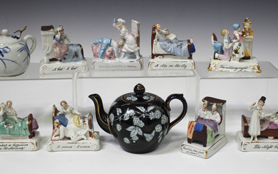 Eight assorted Continental porcelain fairings, late 19th/early 20th century, including 'A Nip o