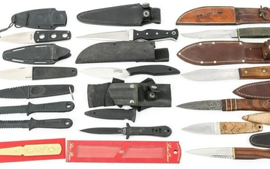 FIXED BLADE KNIFE LOT OF 14