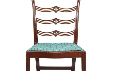 Federal carved mahogany side chair Attributed to Daniel Trotter...