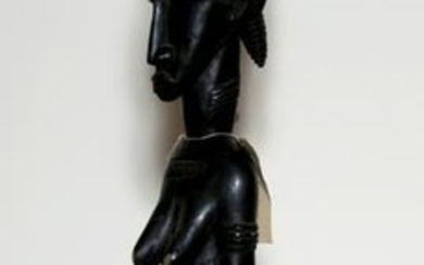 Fertility Figure, Carved Wood and Paint African or