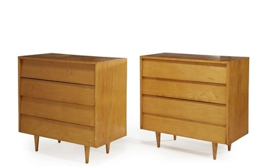 Florence Knoll (American, 1917-2019) Pair of chests of drawers,...
