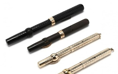 Four Antique Conklin Crescent Fountain Pens