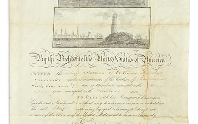 JACKSON, ANDREW. Partly printed vellum Document Signed, as President