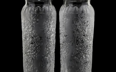 Lalique, Pair of Crystal Vases