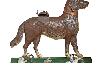 Large Tin Dog with Bell Toy