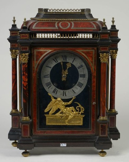 "Louis XIV style clock called ""Religious"" in red..."