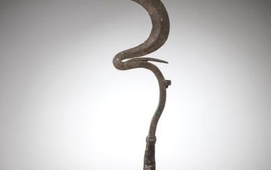 """MATAKAM, North Cameroon. Wrought-iron """"sengese"""" knife with a..."""