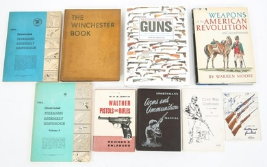 MILITARY & FIREARM REFERENCE BOOKS LOT OF 9