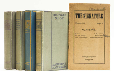 """[Mansfield (Katherine)] """"Matilda Berry"""", D. H. Lawrence and John Middleton Murray, contributors. The Signature, number 3, 1915; and 4 others by the same, some first editions (5)"""