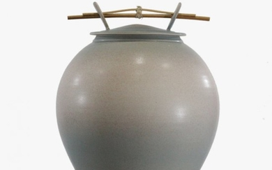 Modern Asian Design Covered Pot Studio Pottery