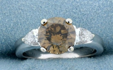 Over 3ct TW Fancy Brown Chocolate and White Diamond