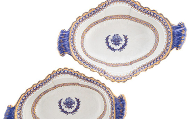 Pair Chinese Export American Market Serving Bowls