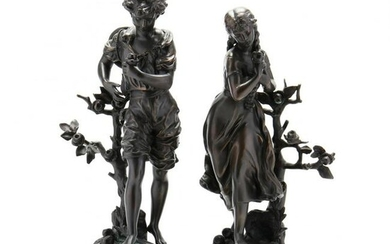 Pair of Collection Francaise Figural Bronzes Les