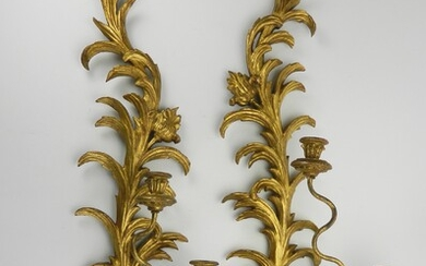 Pair of Italian carved wall sconces
