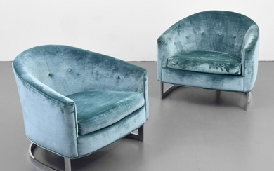 Pair of Lounge Chairs Attributed to Milo Baughman