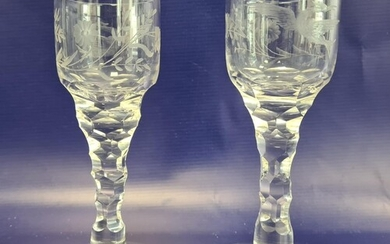 Pair of late 19th Century/ early 20th Century clear glass w...