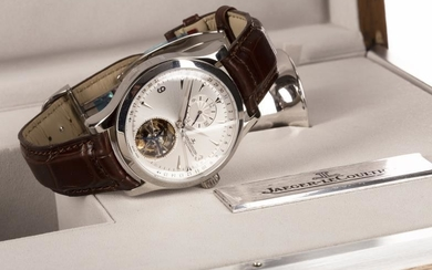 RARE: GENTLEMAN'S JAEGER LECOULTRE MASTER TOURBILLON STAINLESS STEEL AUTOMATIC...