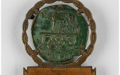 Rome 1960 Summer Olympics Guest Badge