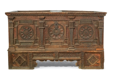 A Rare, Early Rustic Coffer,
