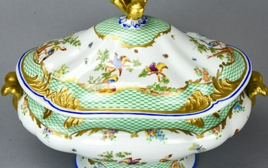 Sevres Hand Painted French Porcelain Tureen