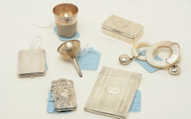 Silver accessories including a card case by Albert