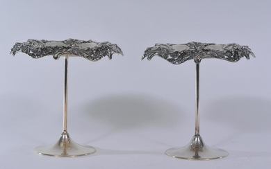 Tiffany & Co. Makers sterling silver pair of relief
