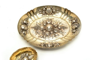 Two German 800 Silver Fruit Chased and Repousse Bowls.