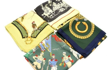 Two HermËs Silk Scarves, with Two HermËs Style