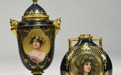 Two Pieces of Royal Vienna Porcelain