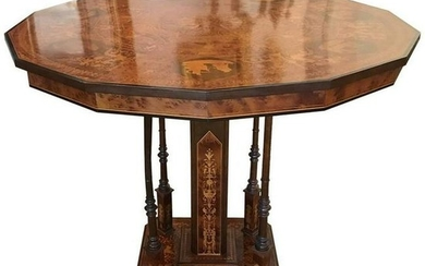 Vintage Italian Neoclassical Style Marquetry Inlaid